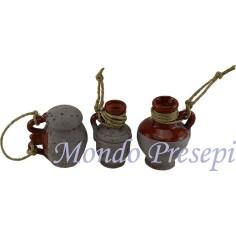 Set of 3 Amphorae-aged cm 4,0 h