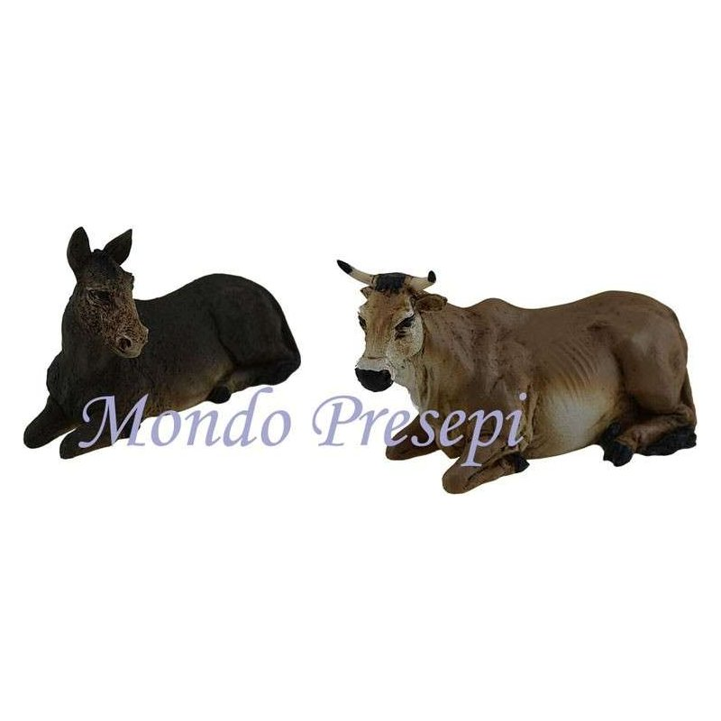 The ox and Ass in the resin series Pigini for statues 13 cm