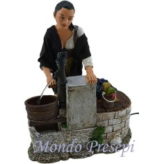 Woman at the well, moving 30 cm