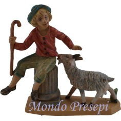 10 Cm Shepherd with sheep lux