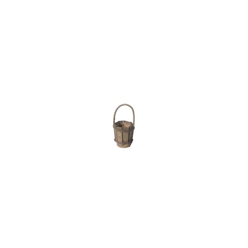 Mondo Presepi Secchio in legno con manico - Cod. MU63