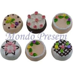 Torta in modelli assortiti 1 pz Ø 2 cm