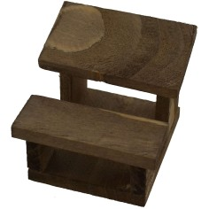Banco in legno con panchina