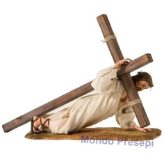 Gesù sotto la croce cm 30