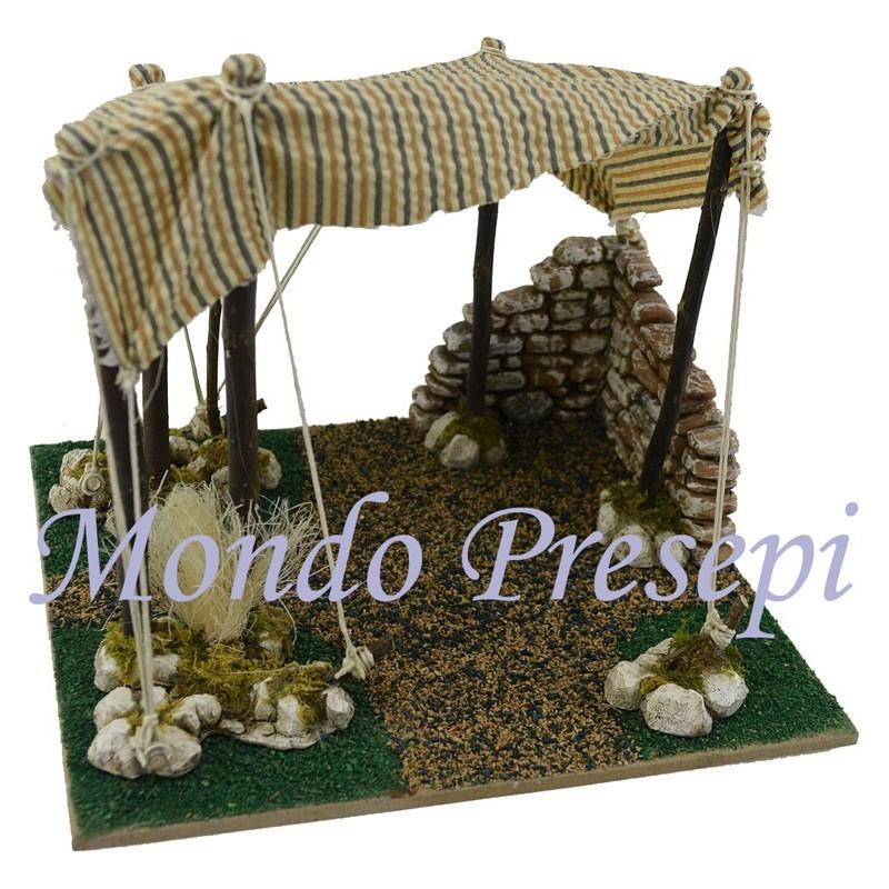 Mondo Presepi Tenda con muretto cm 22x18x16 h.