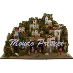 Crib complete with statues Landi waterfall and lights cm