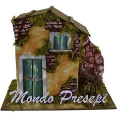 Mondo Presepi Casa con bivacco cm 28x15x22 h.