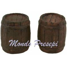 Mondo Presepi Set 2 botti in resina cm 2x2,5 h.