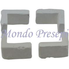 Mondo Presepi Set 4 angoli 2,4x1,6x1,3 h.
