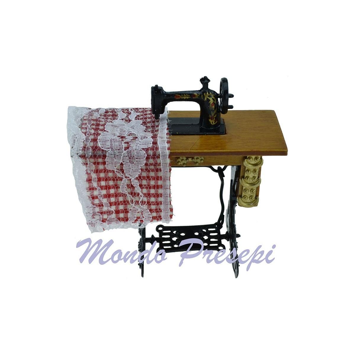 Macchina da cucire con banco mondo presepi - Tavolo macchina da cucire ...