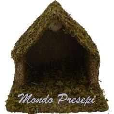 Mondo Presepi Capanna in legno cm 10x10x8,5 h.