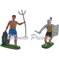 Mondo Presepi Set 2 gladiatori cm 7