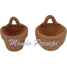 Set of 2 vases with hook