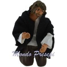 Mondo Presepi Uomo in ginocchio cm 12 snodato