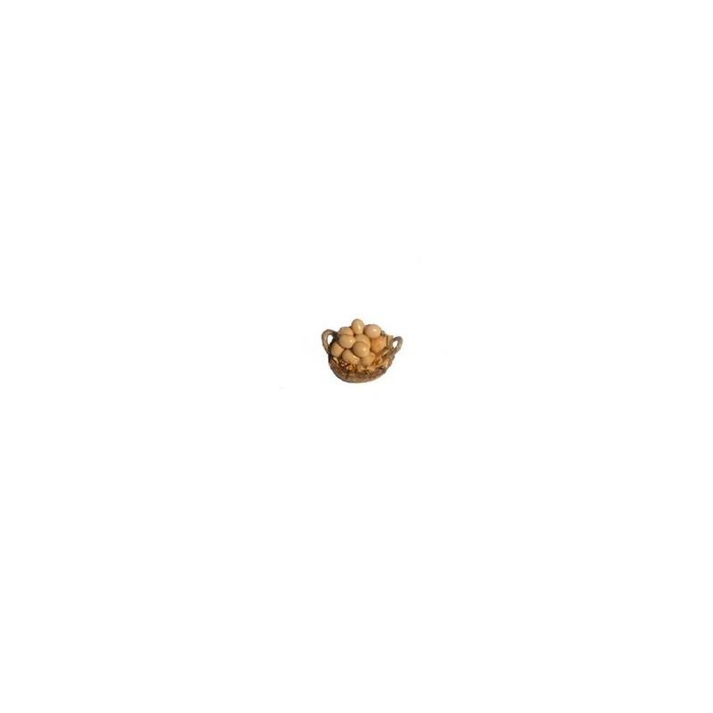 Cesto con uova cm 3 con manici ai lati
