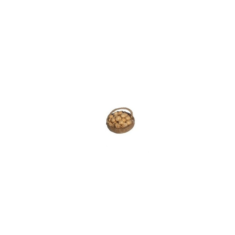 Mondo Presepi Cesto con uova cm 4 con manico