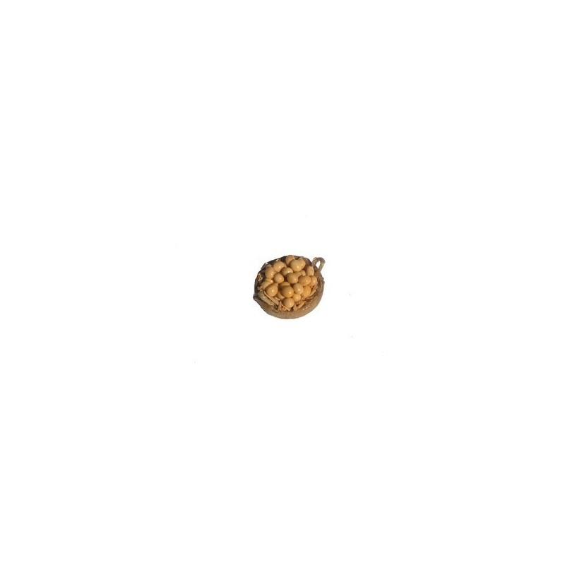 Mondo Presepi Cesto con uova cm 4 con 2 manici