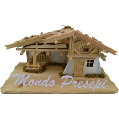 Mondo Presepi Capanna in legno cm 59x29x27