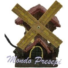 Mondo Presepi Mulino a vento presepe funzionante cm 8x6,5x13 h.