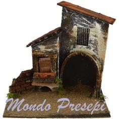 Mondo Presepi Casa con arco cm 20x14x19 h.