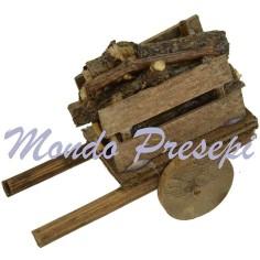 Mondo Presepi Carretto con legna cm 5,5x3x4 h.
