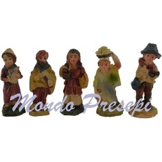 3.5 Cm Set of 5 pastors in the resin