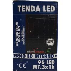Tenda natale 96 led con giochi di luce esterno-interno