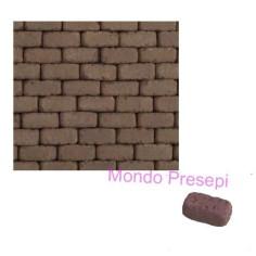 Mondo Presepi Mattoncini in terracotta mm 6x12x5 disponibile in: