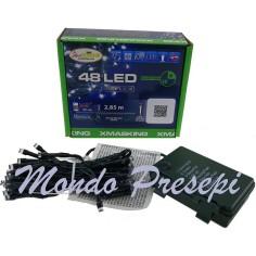 48 Luci Led Esterno-Interno Freddo a Batterie con Timer e Giochi di luce