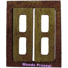 Mondo Presepi Finestra apribile in legno cm 5x6 h.