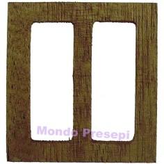 Mondo Presepi Finestra apribile in legno cm 4,7x5 h.