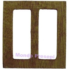 Hinged window in wood cm 4,7x5 h.