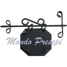 Mondo Presepi Insegna 6,5 cm con targa cm 3x2,5 in metallo