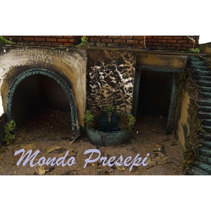Mondo Presepi Presepe con fontana e luci cm 49x35x50 h.