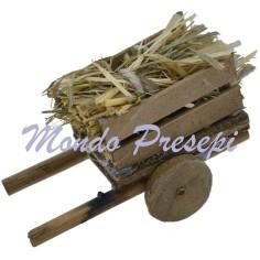 Mondo Presepi Carretto con paglia cm 5,5x3x3,5 h.