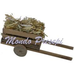 Mondo Presepi Carretto con paglia cm 9,5x3,5x4 h.