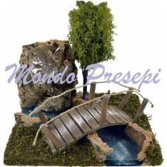 Mondo Presepi Curva SX ef. profondità con ponte cm 16x12x12