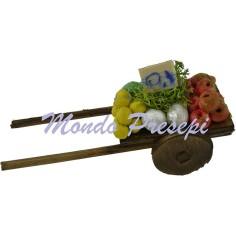 Carretto in legno con frutta-verdura