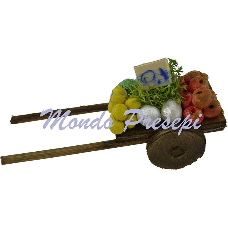 Carretto in legno con frutta-verdura Mondo Presepi