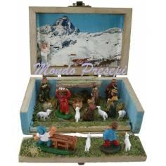 Nativity scene in box cm 10x6x6 h.