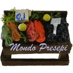 Banco con pesce cm 6,5x4x4 h. Mondo Presepi