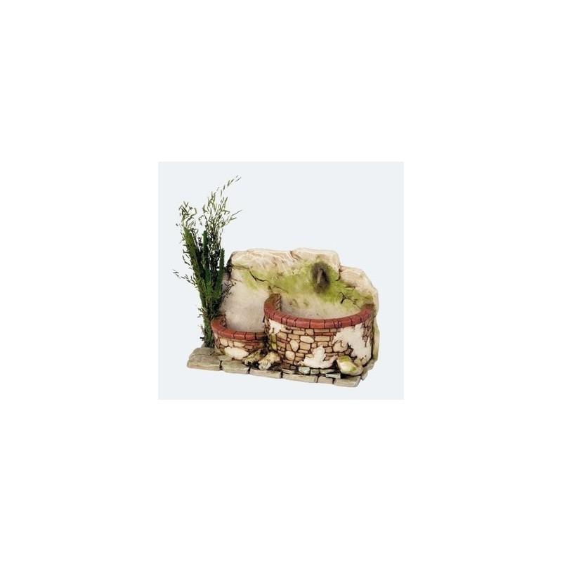 Mondo Presepi Fontana in resina a due vasche - Cod. FN5