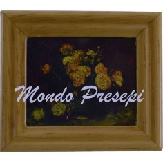 Mondo Presepi Quadro con fiori cm 3,7x4,2