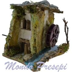 Mondo Presepi Casolare con mulino elettrico cm 19x16x16
