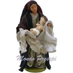 Donna con bambino tra le braccia cm 12
