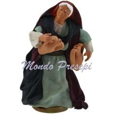 Donna con anfore cm 12 Lux