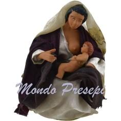 Donna che allatta il bimbo cm 12