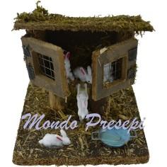 Mondo Presepi Conigliera - Cod. AA50
