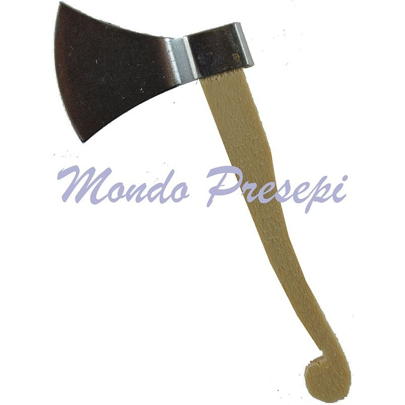 Ax in wood and metal 6 cm