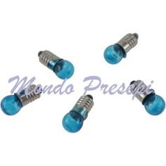 Mondo Presepi Busta 5 lampadine azzurre att. E5,5